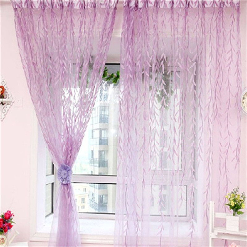 Home New Arrival Yarn Willow Curtain Tulle Room Decor Sheer Panel Drapes