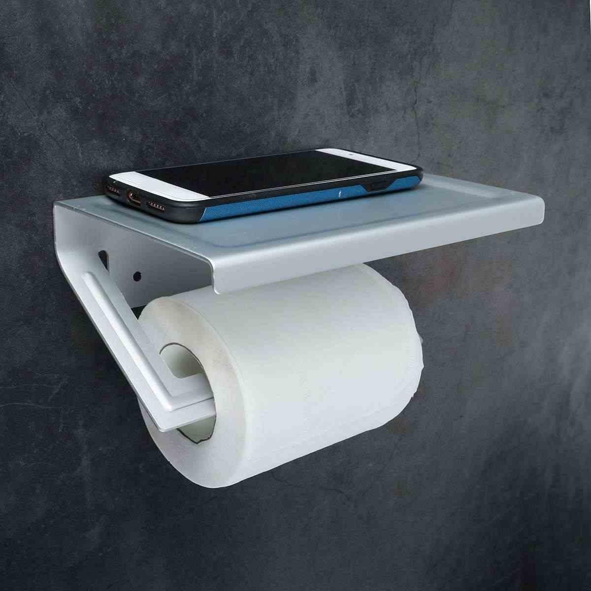 タオルでぶら下げラック紙ロールホルダー収納棚浴室タオルハンガーウォールマウント電話タオルホルダー