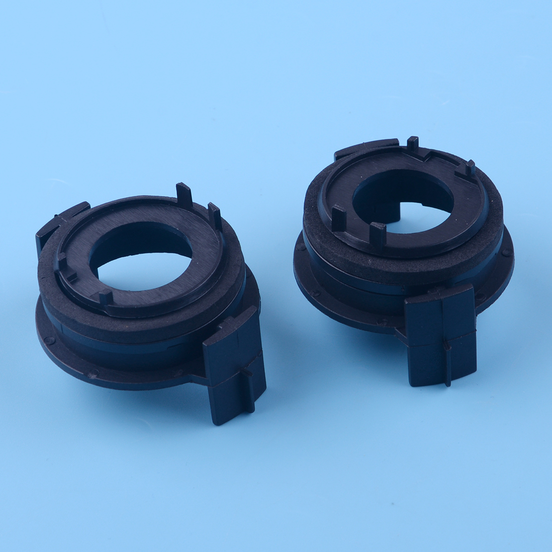 DWCX 2pcs Black Plastic <font><b>LED</b></font> Headlight Bulbs Lamp Light Clip <font><b>Adapter</b></font> Socket Base Holder Retainer Fit For <font><b>BMW</b></font> <font><b>E46</b></font> E90 3 Series image