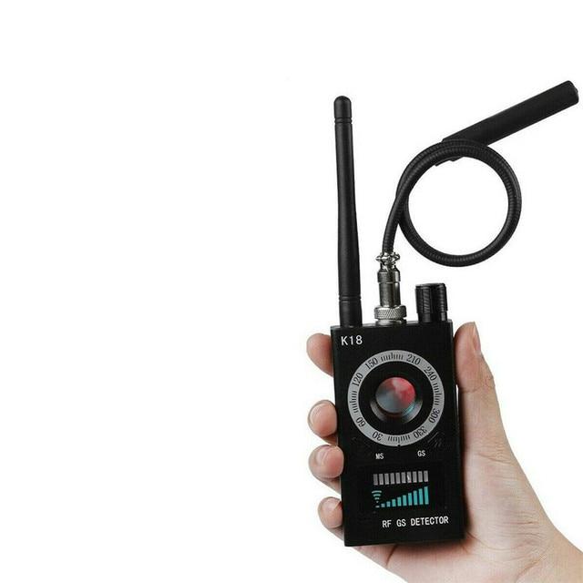 Anti Spy Wireless RF Signal Detector Camera GSM Audio Error Finder GPS Signal Lens RF Locator Tracker Detection 1MHZ-6.5GHZ K18 5
