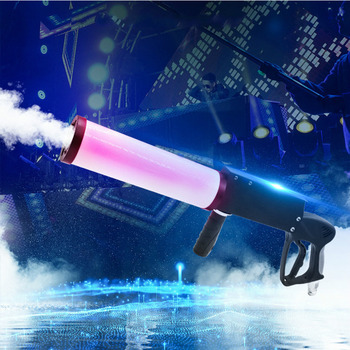 DJ Light Gun CO2 Gas Cylinder Gun RGBW Leds For Disco Dj Club Wedding Party LED Effect Equipment Co2 DJ Gun Gas Column Smoke 2 pcs lot stage special effect magic fx co2 gas confetti machine swril co2 jets confetti streamer for super party celebration