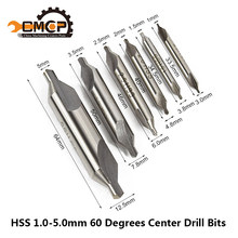 HSS Center Drills Bits 60 Degree Countersink Drill 1mm 1.5mm 2mm 2.5mm 3mm 3.5mm 4mm 5mm Power Tools Metal Drill Bit(China)