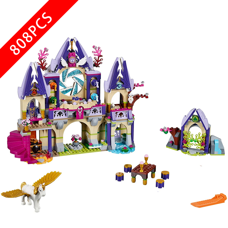 New Friends Series Toys Sky Castle Compatible lepinngl Friends 41078 Buildin Blocks Toys for Children Birthday Gift