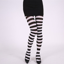 1Pair New Women Girls Over Knee Long Stripe Printed Thigh High Striped Patterned Socks 6 Colors Sweet Cute Warm Wholesale Lot