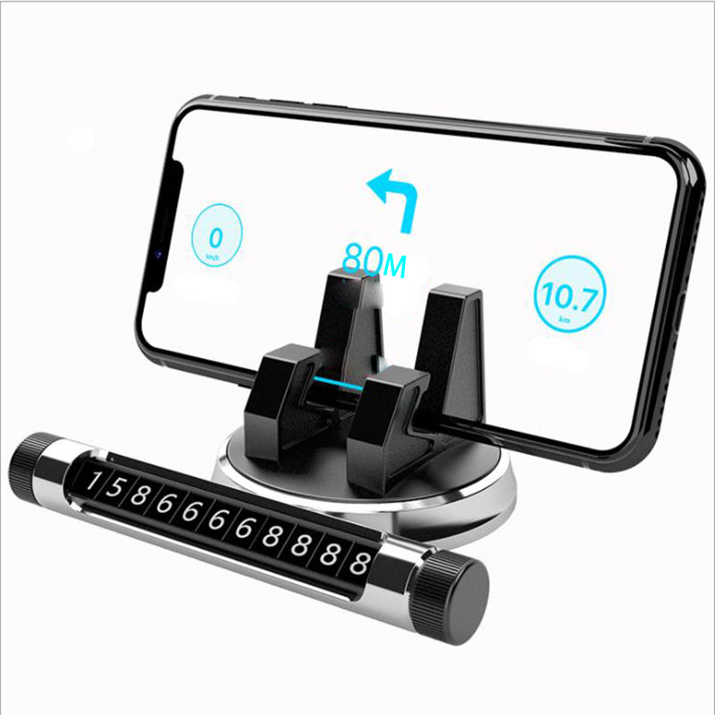 Car Phone Holder 360 Degree GPS Navigation Dashboard for Telephone number plate Universal Mobile Phone Clip Mount Stand Bracket