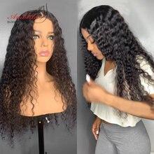 Perruque Lace Frontal Wig Deep Wave brésilienne Remy – Arabella, cheveux naturels, 13x4, pre-plucked, avec Baby Hair, pour femmes