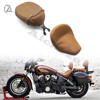 ACZ Motorcycle Accessories Balck/Brown Leather Passenger Pillion Seat for Indian Scout 2015 2018 Scout Sixty Motorcycle