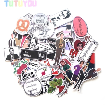 PC15 46pcs/set TV Show Stickers Decal For for Guitar Laptop Luggage Car Fridge Graffiti Decal Sticker bevle a0040 famous logo laptop luggage skateboard graffiti notebook motor stickers decal fridge waterproof sticker for cars