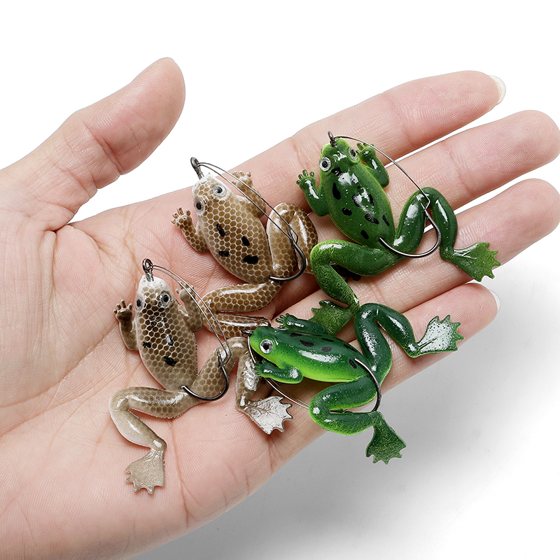 2020 4Pcs/ Lot 6Cm 5.2G Fishing Lure Suspending Pack Rubber Soft Lure Frog Lure Lures Wobblers Silicone Bait For Fishing Smell