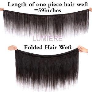 Image 2 - Прямые пряди Lumiere, перуанские волосы, волнистпряди, 100% человеческие волосы, пучки натурального цвета, двойной уток, волнистые волосы Remy