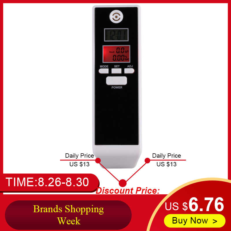 LCD Digitale Blaastest Alcohol Tester Professionele Adem Parking Detector Gadget met Backlight Rijden Essentials PFT-661S