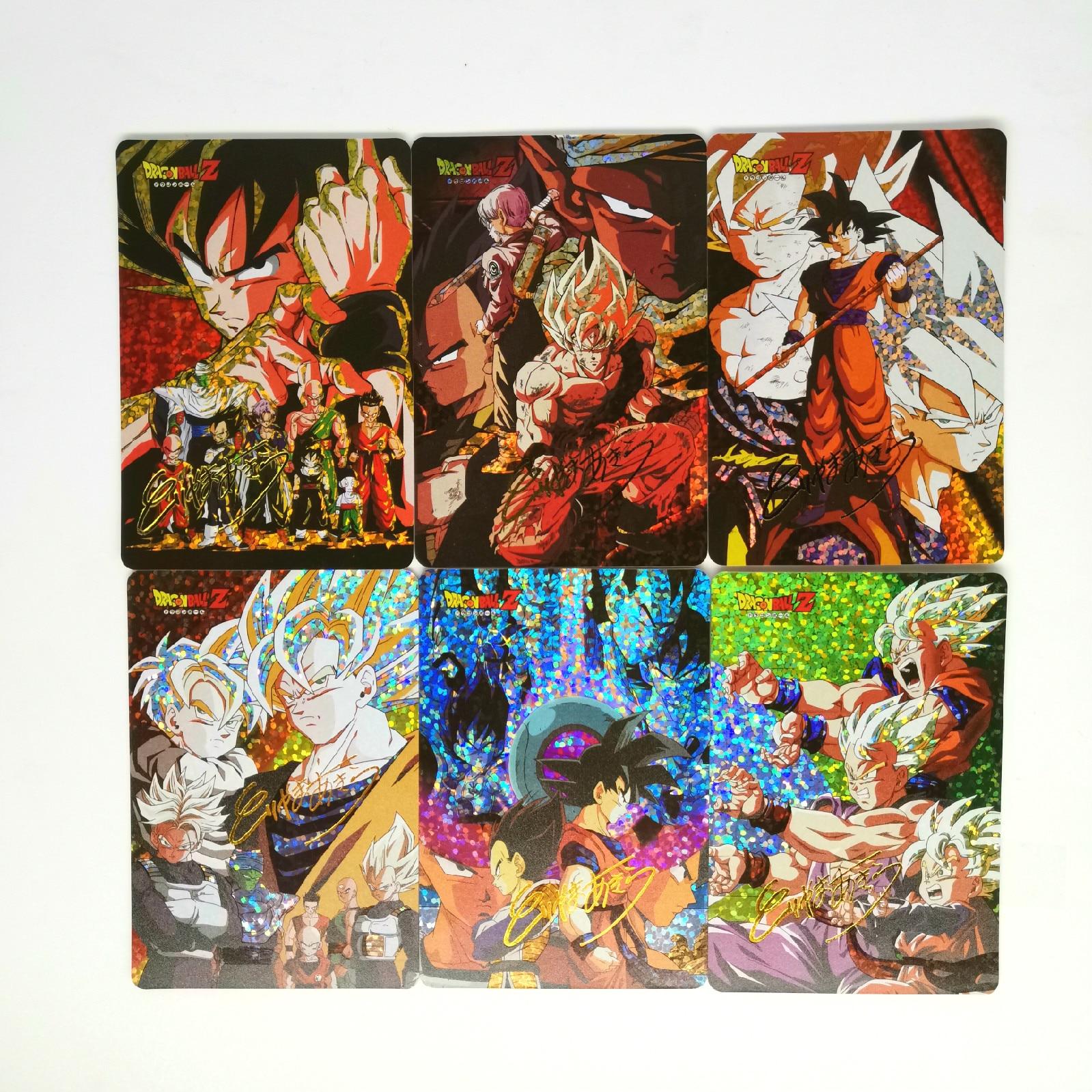 9pcs Super Dragon Ball Z Toriyama Akira Signature Heroes Battle Card Ultra Instinct Goku Vegeta Game Collection Cards