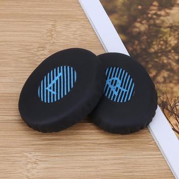 1 par de almohadillas de repuesto para Bose OE2 almohadillas para los oídos Funda de cuero proteico almohadón auriculares SoundTrue almohadón suave para Bose OE2I