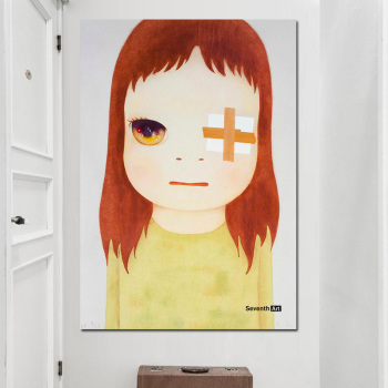 Yoshitomo Nara Cartoon Art Sleepwalking Doll Drawing Japanese Painting Print Canvas Art Pictures Poster For Baby Kids Room Decor image