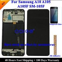 Pantalla LCD Original Super AMOLED para Samsung A10, A105, montaje de digitalizador táctil