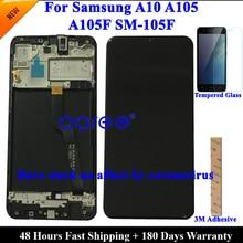 Super AMOMLED Original LCD Für Samsung A10 A105 LCD Für Samsung M10 M105F LCD Bildschirm Touch Digitizer Montage