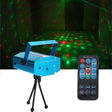 Mini 6 in1 Pattern Effect R & G Audio Star Whirlwind Laser Projector Stage Disco DJ Club Bar KTV Family Party Light Show