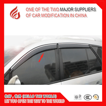 4 Piece Injection molding trim vent shade rain sun wind deflector window visor for Carens 2007-2012 2013-2014