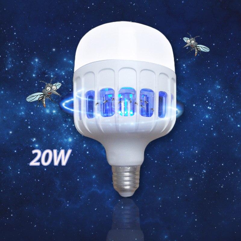 20W Anti Mosquito Light Bulbs Repellent Bug Zapper Insect Killer Night Lamp 2 In 1Bulb E27 LED Mosquito Killer AC 175V-220V