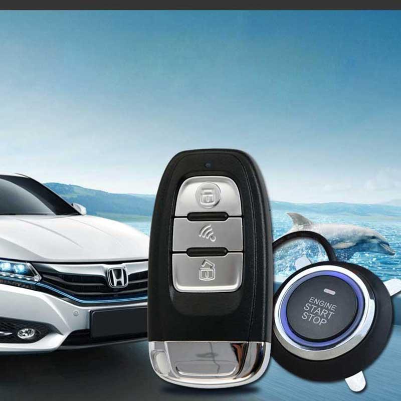 Remote Start Keyless Entry Car Alarm System Araba Alarm Central Locking Car Parts Keychain Pke Start Stop Button Sheriff