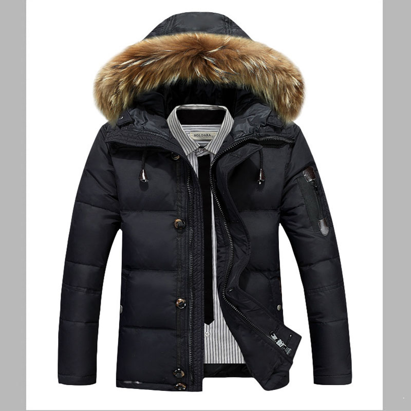 -40Celsius Goose Down Parkas Men Winter Jacket Real Scorpion Fur Collar Hooded Outdoor Male Coat 2019 High Quality