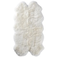 Quarto Sheepskin Pelt Rug 4 ft x 6ft original from New Zealand in cream color Real sheepskin decoration cushion