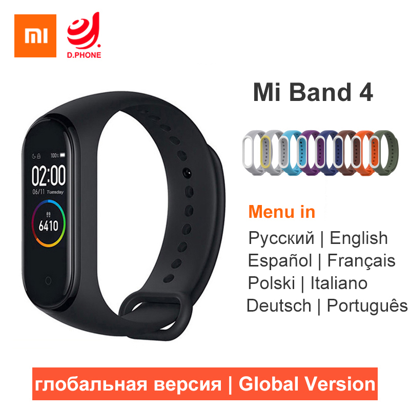 Xiaomi Mi Band 4 Smart Bracelet 3 Color AMOLED Screen Miband 4 Smartband Heart Rate Fitness Traker Bluetooth5.0 Sport Waterproof