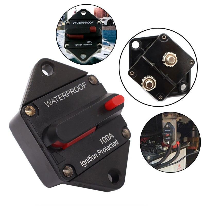 Автоматический выключатель автомобильного усилителя звука 20-200 А, 12 В, 48 В, блок предохранителей, установка для стереоусилителя, предохранит...