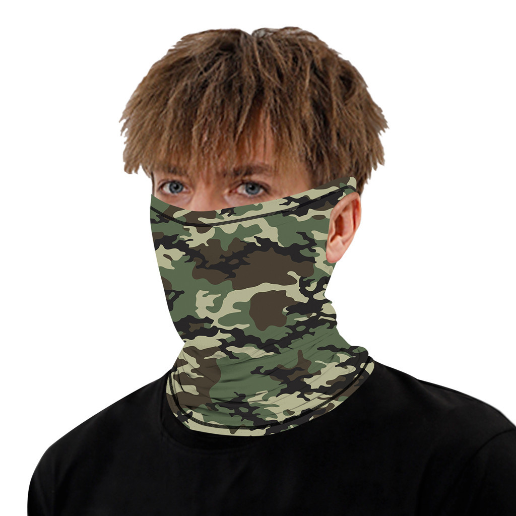 Stylish Printed Dustproof Scarf Mask 28