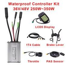 Электрический велосипед контроллер kunteng 36v 48v 250w 350w