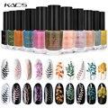 KADS стемпинг ногтей покрытие лак для ногтей печать ногтей изображение лак для дизайна ногтей шаблон краска чистый цвет жемчуг флуоресцентна...