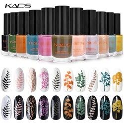 KADS Nail Stamping Polish Nail Polish Nail Print Image Varnish for Nail Art Template Paint Pure Color Pearl Fluorescence Series