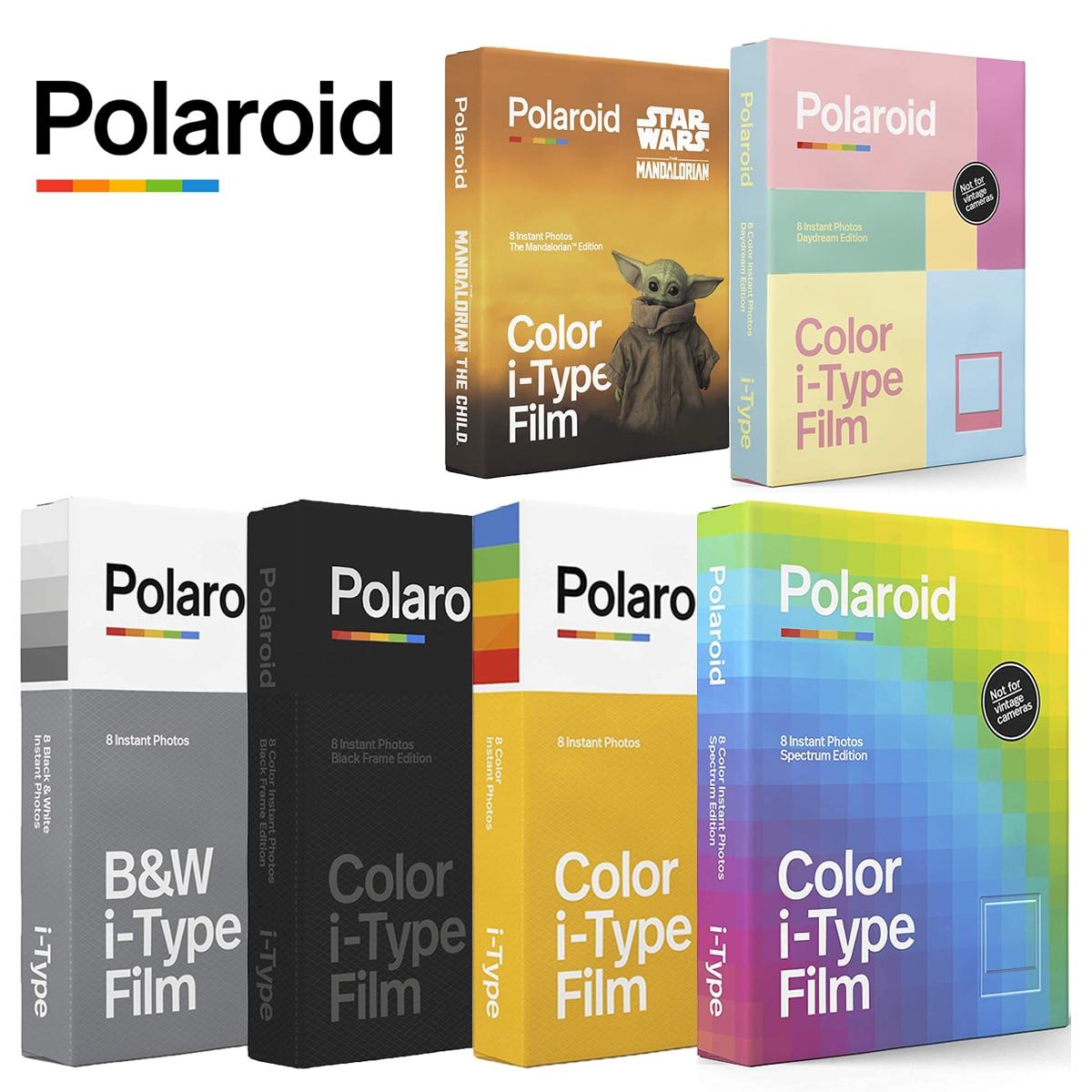Оригинал Polaroid i-Type B & W Черная цветная пленка мгновенная фотобумага 8 листов для Polaroid Onestep +, Onestep2 VF +, невозможно 1-1