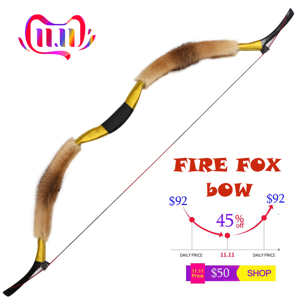 Handmade Sheepskin Recurve Bow Traditional Archery Hunting Mongolian Longbow