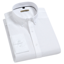 Oxford Shirt Button-Down-Shirts Long-Sleeve Holiday Casual Cotton Fashion Soft Standard-Fit