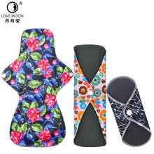 Toalla de bambú lavable para mujer, compresas reutilizables higiénicas de alto tiempo, toallas suaves de flujo de carbón vegetal
