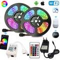 Цветная (RGB) Светодиодные ленты s 12V 20 м, поводок со светодиодными лампочками для комнаты 5 м 10 м 15 м, Wi-Fi, Bluetooth, смарт-лента Luces RGB ленты Светодиод...