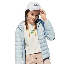 Semir 2020 novo inverno para baixo jaqueta feminina inverno mais veludo com capuz para baixo casaco de inverno casaco portátil mulher quente outwear