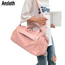 Ansloth Travel Handbag Women Oxford Luggage Bag Ladies Fitness Bag Large Capacity Sport Shoulder Bag Female Travel Duffle HPS797