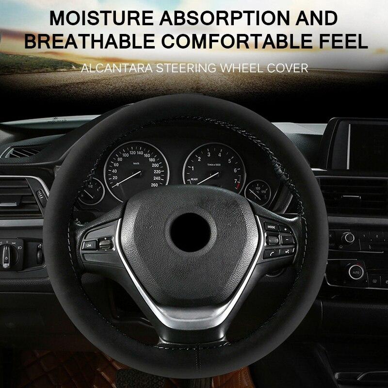 Cubierta universal del volante del autom/óvil del coche de cuero de la PU con las agujas y el hilo Transpirabilidad Cubierta antideslizante del veh/ículo
