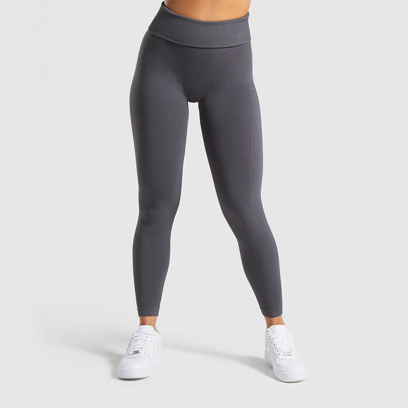 Ribbed Seamless Athletic Fitness Leggings