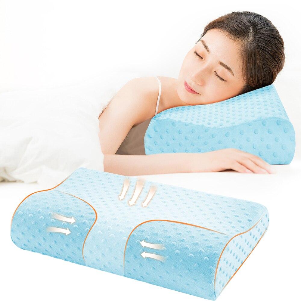 Подушка из пены с эффектом памяти, u-образные подушки для шеи, Ортопедическая подушка для самолета, поддержка шеи, аксессуары для путешествий, удобные подушки для сна - Цвет: blue 40x25cm