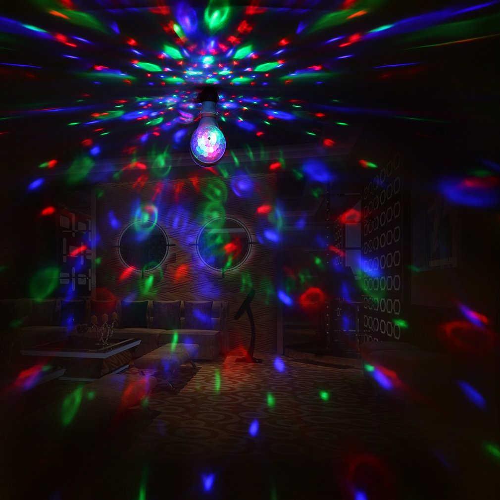 LED 6W Lampadina Rotante Luce con Doppia Testa Magia Della Fase Della Discoteca Lampada Rotante a Doppia testa LED Colorato Della Fase luce