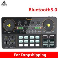 Caster Mixer Newest 4 Channel Sound USB Digital Audio Mixer Console Support Multi Channel Mixing For Gaming,Streaming,Recording