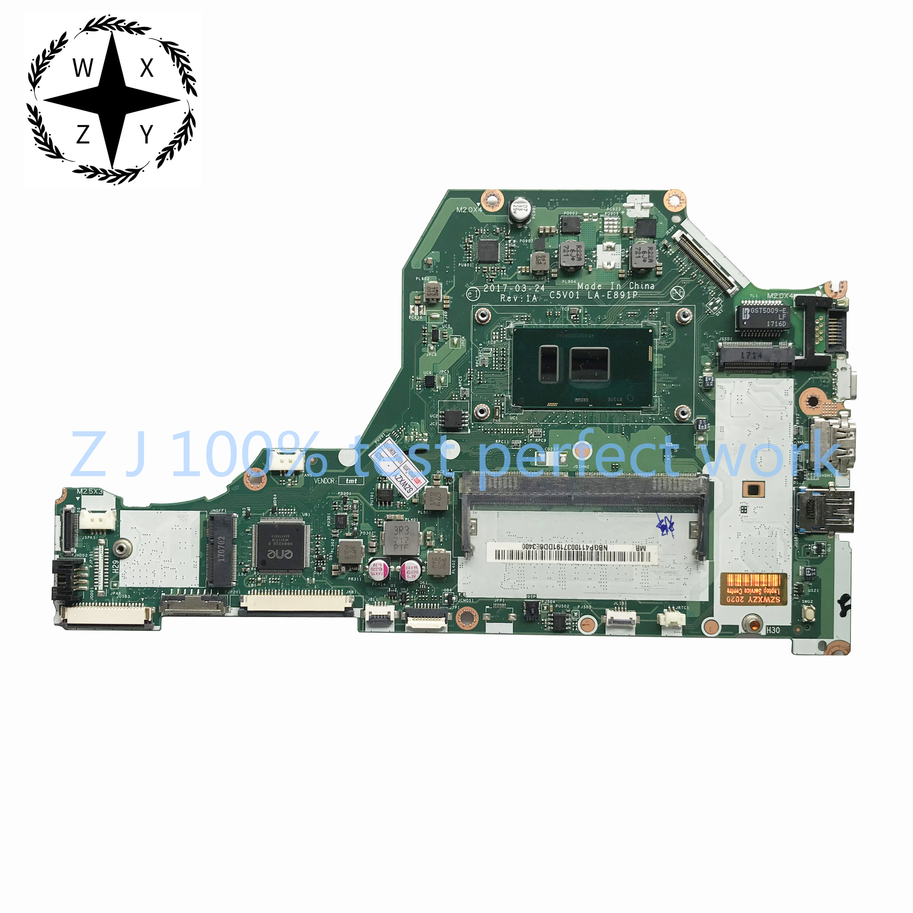 For Acer Aspire A515 A515 51 Laptop Motherboard W I5 7200u Cpu Ddr4 Nb Gp411 003 Nbgp411003 C5v01 La E891p 100 Tested Fast Ship Laptop Motherboard Aliexpress