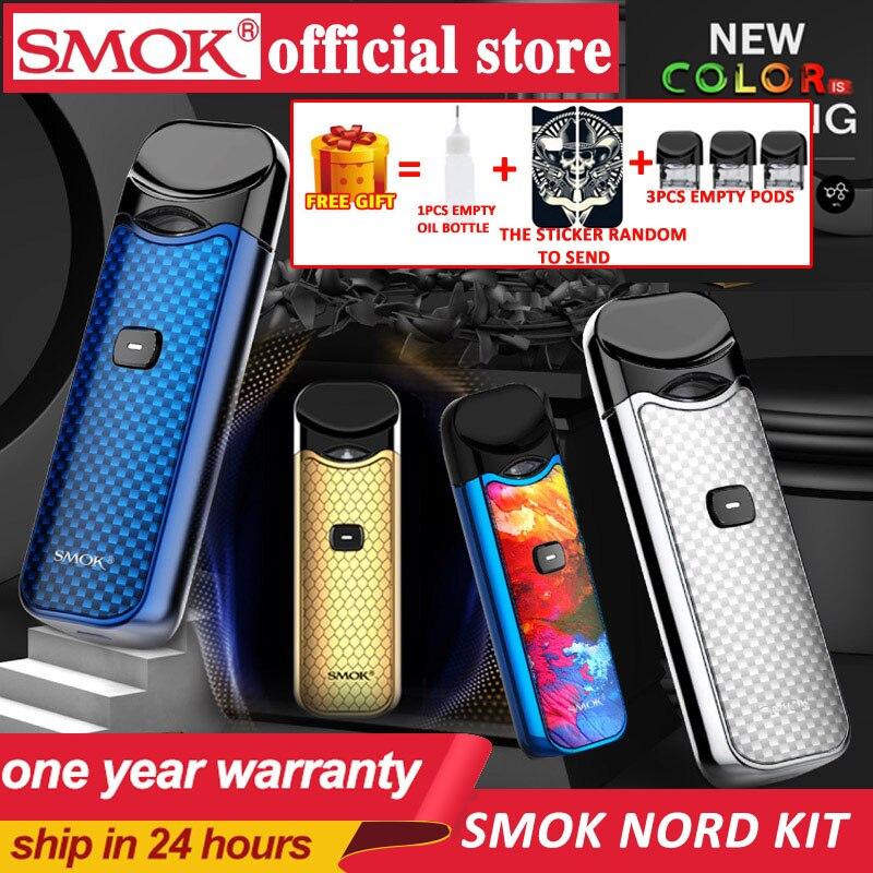 In Stock!! Smok Nord Pod Vape Kit With 1100mAh Battery 3ML Cartridge Mesh Coil Electronic Cigarette Vape Pod Kit Vs SMOK Novo
