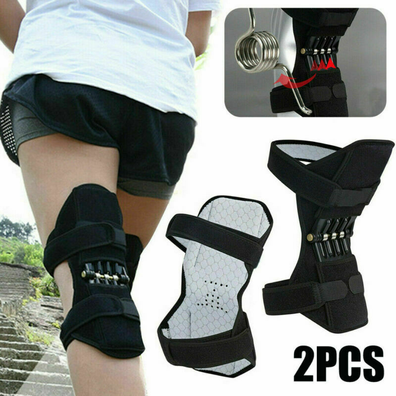1 Pair Joint Support Knee Pads Breathable Non-Slip Power Joint Support Knee Pads Powerful Rebound Spring Force Knee Booster Pads