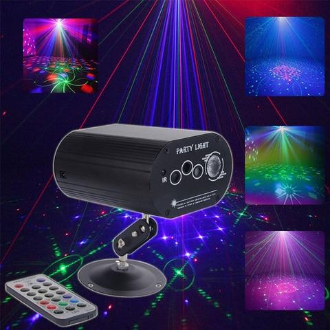 projetor laser de discoteca cor completa rgb luzes de palco led para casa festa natal