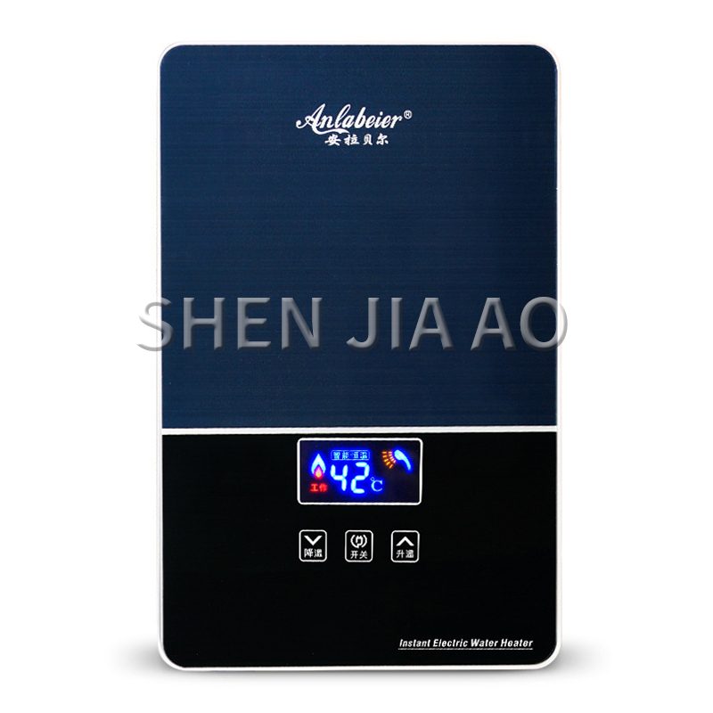Instant Hot Water Heater Not-water Storage Wall-mounted Home Digital Display Mini Water Heater Variable Frequency Thermostatic