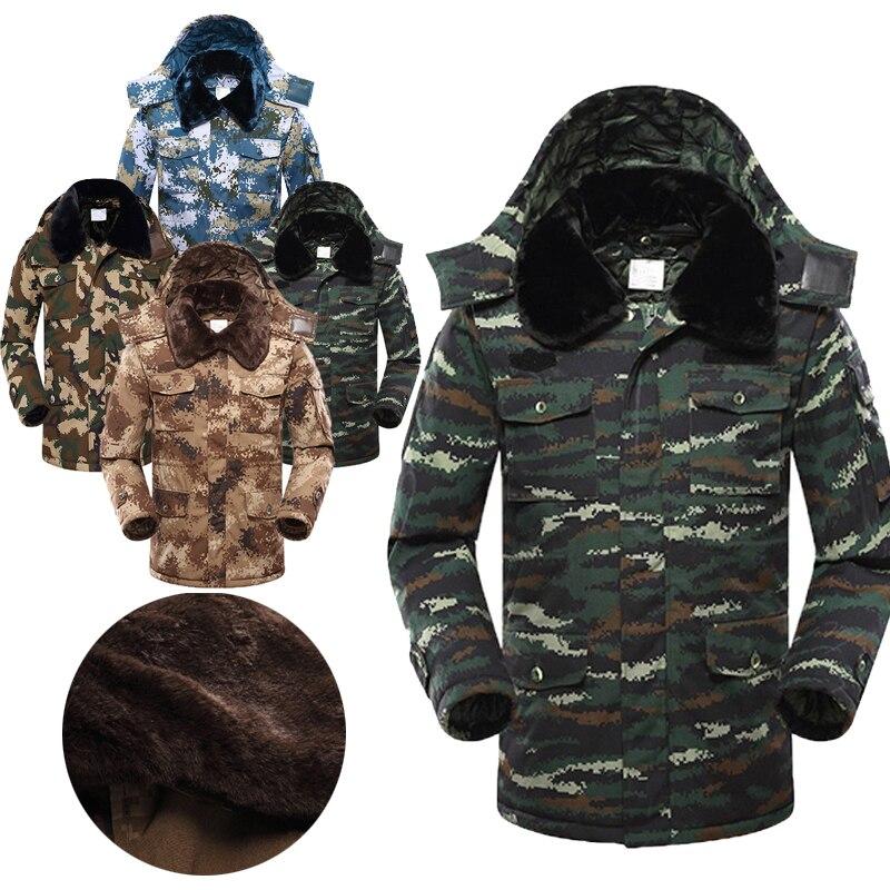 Winter Fleece Military Jackets Men Windproof Outwear Parka Mens Windbreaker Raincoat Coat Overcoat